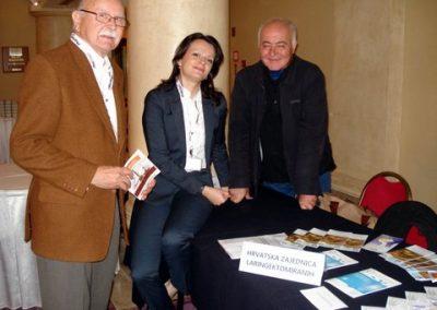 Predavači na Simpoziju s predsjednikom ZG kluba Brankom Pašićem na štandu HZL u Hotelu Westin.